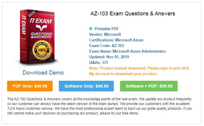 Pass4itsure-AZ-103-Exam-Questions-Answers